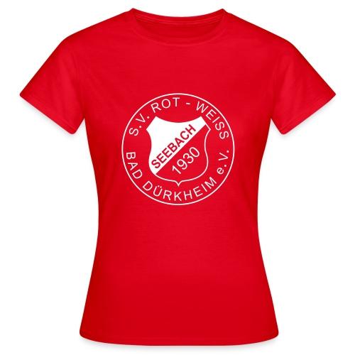 Frauen T-Shirt rot Logo weiß - Frauen T-Shirt