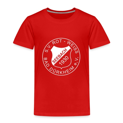 Kinder Premium T-Shir rot Logo weiß - Kinder Premium T-Shirt