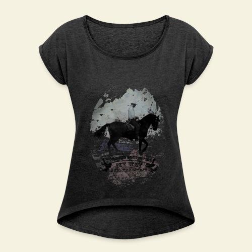 Working Equitation by WP - Frauen T-Shirt mit gerollten Ärmeln