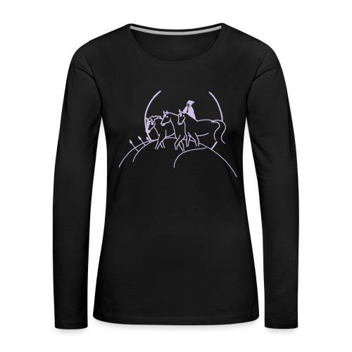 Cover, Woman Longsleeve ( Print  Lavendel ) - Frauen Premium Langarmshirt