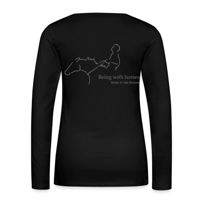 Front & Backprint:  LOGO & MPS Rider, Woman Longsleeve ( Print Digital Grey  )