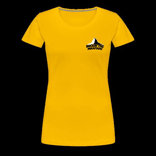 Rockin' the Mountains S-3XL T-Shirt - Frauen Premium T-Shirt