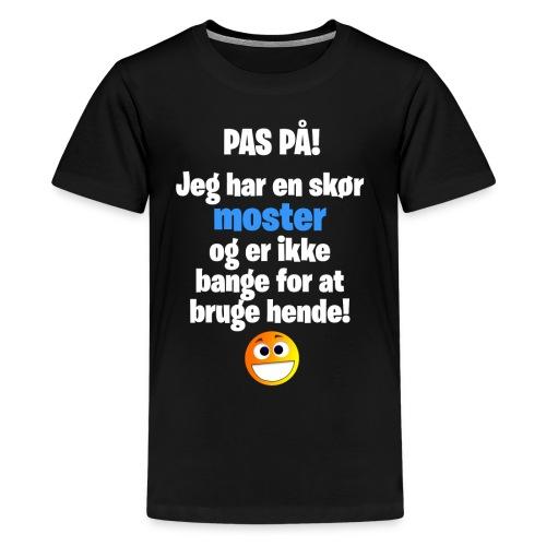 Pas På! Drenge-Udgaven (Teenage-størrelse) - Teenager premium T-shirt