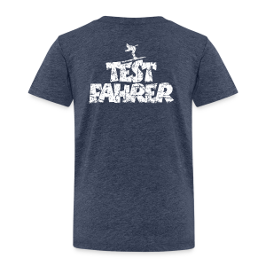 Testfahrer Skifahrer (Vintage/Weiß) Kinder T-Shirt - Kinder Premium T-Shirt