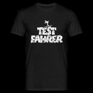 Testfahrer Skifahrer (Vintage/Weiß) T-Shirt - Männer T-Shirt