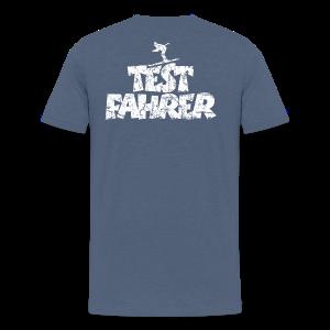 Testfahrer Skifahrer (Vintage/Weiß) S-5XL T-Shirt - Männer Premium T-Shirt