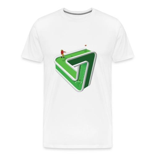 Confused Footballer - Triangular Graphic Design T-Shirt - Men's Premium T-Shirt
