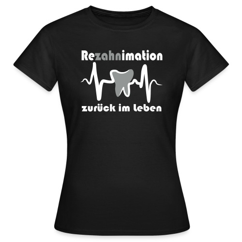 Tshirt schwarz, Logo weiß, Mädchen - Frauen T-Shirt