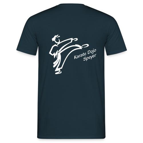 Männer T-Shirt weißes Logo -individualisierbar- - Männer T-Shirt
