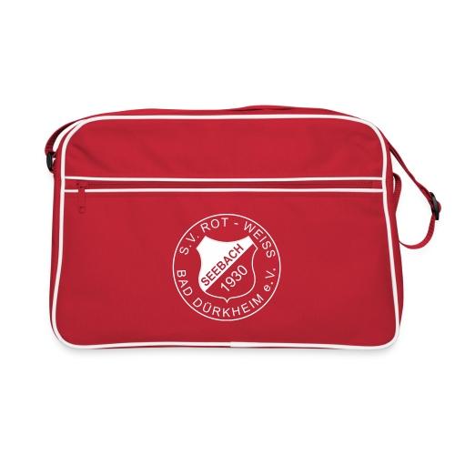 Retro Tasche rot Logo weiß - Retro Tasche