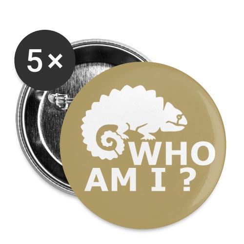 Who am I? - Anstecker - Buttons klein 25 mm (5er Pack)