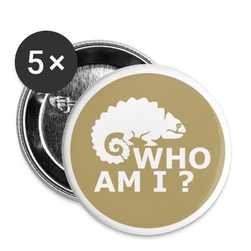 Who am I? - Anstecker - Buttons mittel 32 mm (5er Pack)
