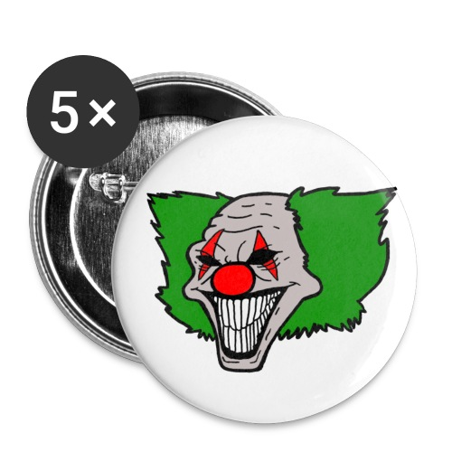 Killer Clown Buttons - Buttons groß 56 mm