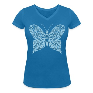 Schmetterling - Women's Organic V-Neck T-Shirt by Stanley & Stella