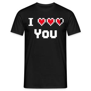 I hearts you(white) - Mannen T-shirt