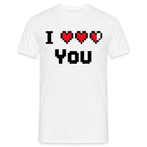 I hearts you(black) - Mannen T-shirt