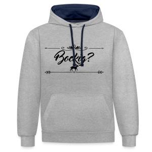 Bokcig Black | Unisex Hoodie - Kontrast-Hoodie