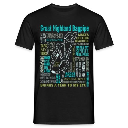 Pipe my life´b - Männer T-Shirt