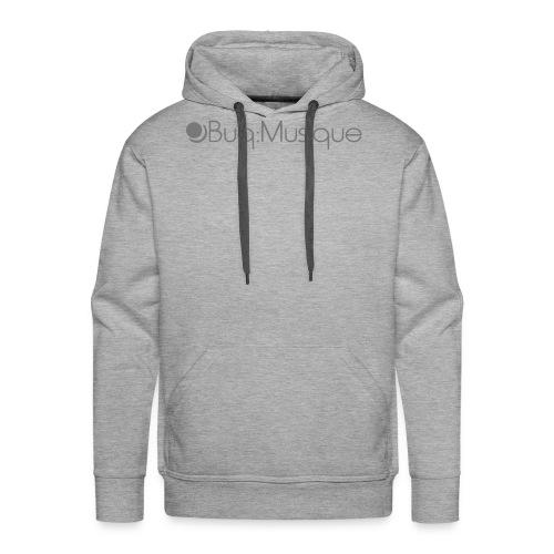 Männer Premium Hoodie - Aufdruck: Grau ca. 26cm x 4cm