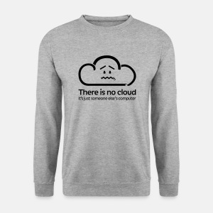 'There Is No Cloud' Jumper - Grey - Men's Sweatshirt