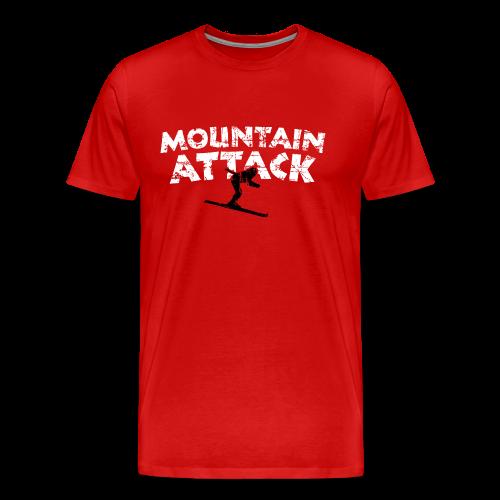 Mountain Attack Ski (Vintage Schwarz/Weiß) S-5XL T-Shirt - Männer Premium T-Shirt