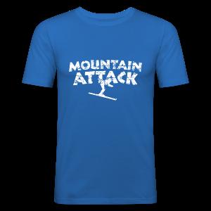 Mountain Attack (Vintage/Weiß) Slim Fit T-Shirt - Männer Slim Fit T-Shirt