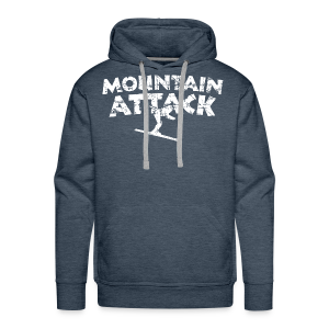 Mountain Attack (Vintage/Weiß) Hoodie - Männer Premium Hoodie