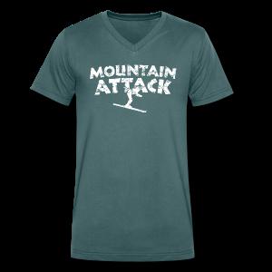 Mountain Attack (Vintage/Weiß) V-Neck T-Shirt - Männer Bio-T-Shirt mit V-Ausschnitt von Stanley & Stella