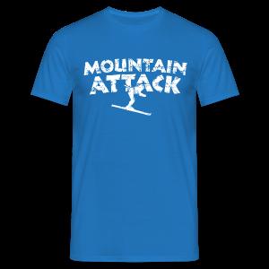 Mountain Attack (Vintage/Weiß) T-Shirt - Männer T-Shirt