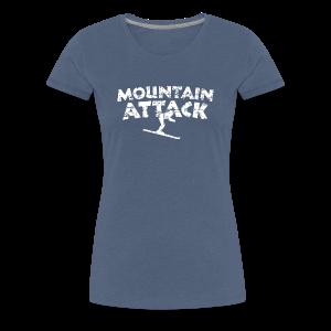 Mountain Attack Ski (Vintage/Weiß) S-3XL T-Shirt - Frauen Premium T-Shirt