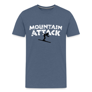 Mountain Attack Ski (Vintage Schwarz/Weiß) Teenager T-Shirt - Teenager Premium T-Shirt