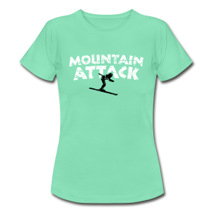 Mountain Attack Ski (Vintage Schwarz/Weiß) T-Shirt - Frauen T-Shirt