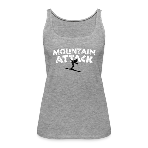 Mountain Attack Ski (Vintage Schwarz/Weiß) Tank Top - Frauen Premium Tank Top