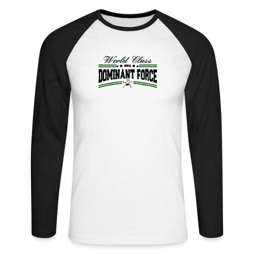 dominant force - Men's Long Sleeve Baseball T-Shirt