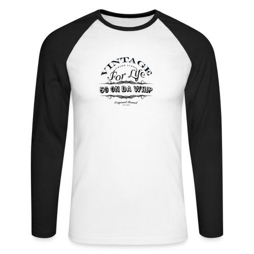 50 on da whip - Men's Long Sleeve Baseball T-Shirt