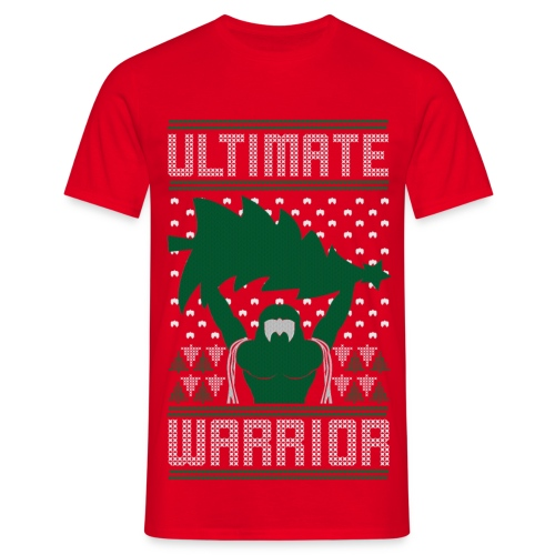 Sale Ultimate Warrior 2016 Ugly Christmas Red Shirt - Men's T-Shirt