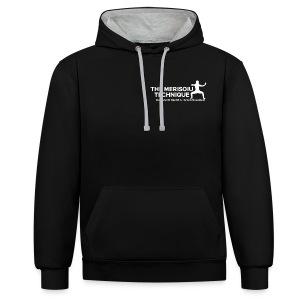 MTI Hoodie Grey-Black Ver 1 - Contrast Colour Hoodie