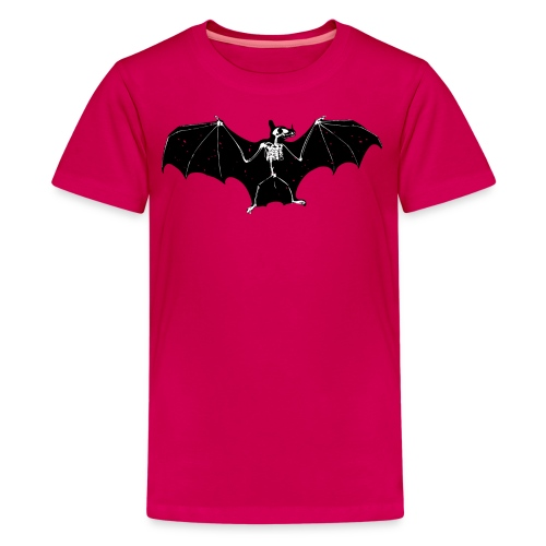 Halloween bat skeleton tshirt - Teenage Premium T-Shirt