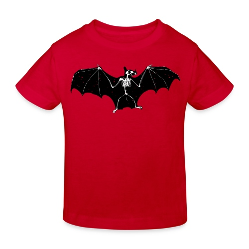 Halloween bat skeleton tshirt - Kids' Organic T-shirt
