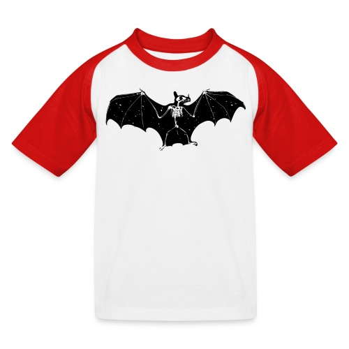 Halloween bat skeleton tshirt - Kids' Baseball T-Shirt