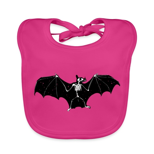 Halloween bat skeleton bib - Baby Organic Bib