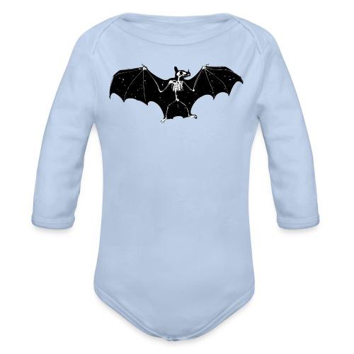 Halloween bat skeleton bodysuit - Organic Longsleeve Baby Bodysuit