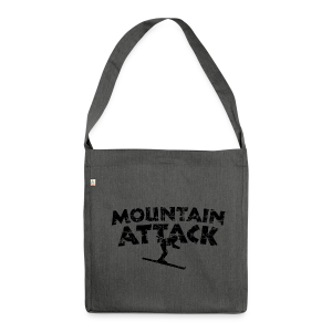 Mountain Attack Ski (Vintage/Schwarz) Recycling Tasche - Schultertasche aus Recycling-Material