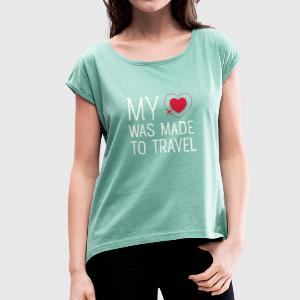 Travel T-Shirts - Women's T-shirt with rolled up sleeves