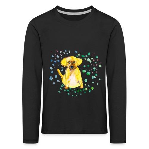Kinder-Langarmshirt *Hund* schwarz - Kinder Premium Langarmshirt