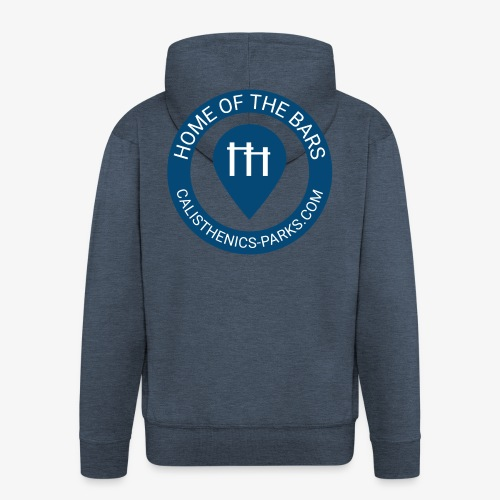 Calisthenics Parks - Home of the bars - Hoodie Jacket - blue - Men's Premium Hooded Jacket