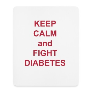 Diabetes Support Mouse Mat - Mouse Pad (vertical)
