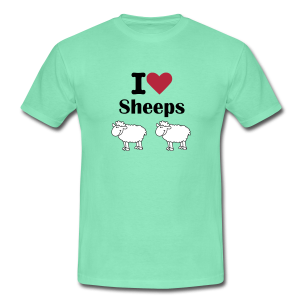 T-shirt homme I love sheeps - T-shirt Homme