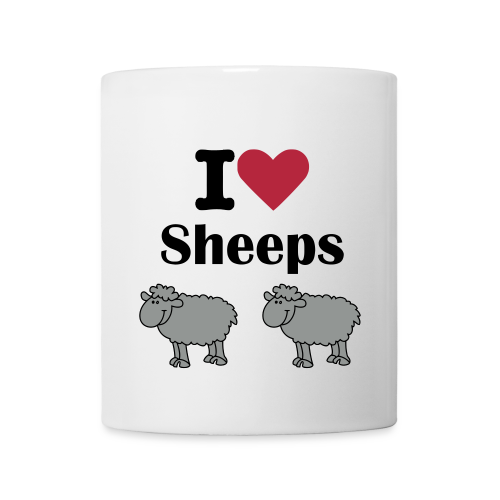 Mug  I love sheeps - Mug blanc