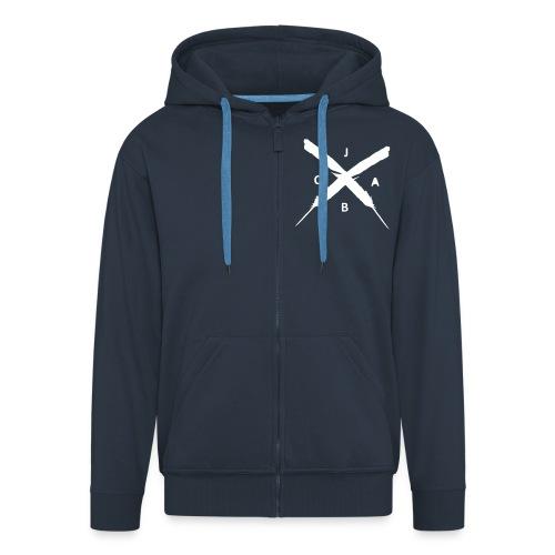JABC x men x jacke x bluemellau - Männer Premium Kapuzenjacke